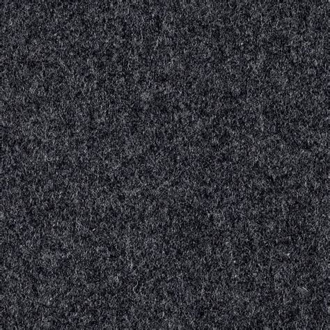 Wool Blend Melton Solid Charcoal Grey Discount Designer