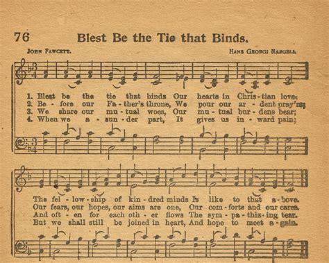 blest be the tie that binds with lyrics sonday blest be the tie that binds antique hymn page