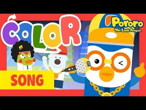 colors rap song pororo color song rap chant let s learn colors with mc