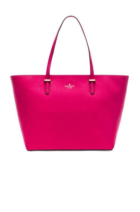 Kate Spade Pink lyst kate spade new york medium harmony tote in pink