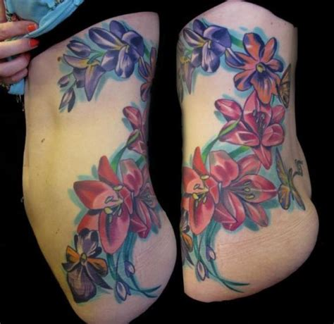 flower side tattoo side flower pictures to pin on tattooskid
