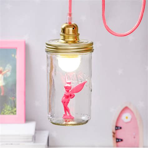 fairy lights in a jar pink fairy in a jar light by thelittleboysroom