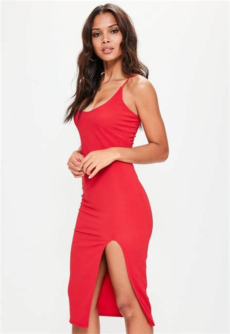 30918 Y Neck Dress strappy scoop neck midi dress missguided