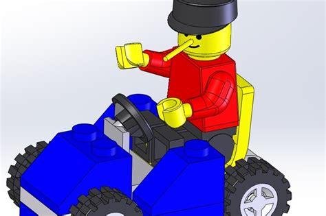 tutorial solidworks lego kart lego solidworks 3d cad model grabcad