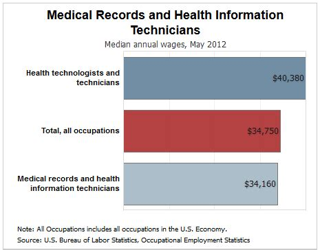 information technology wages 5 of the top in health information management him