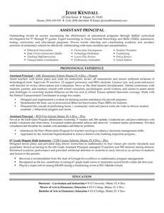 Principal Resume Sles by Resume Goals