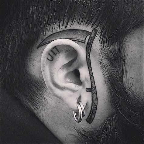 scythe tattoo blackwork scythe by mxw