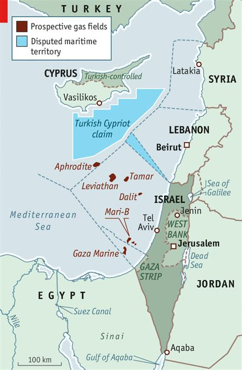israels  palestines gas  oil  optimistic  economist