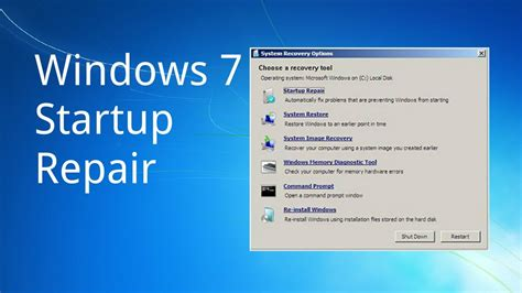 how to use windows 7 startup repair by tech compass