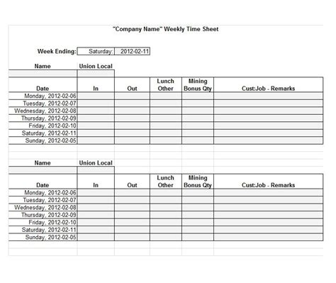 time sheet template 40 free timesheet time card templates template lab