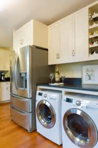 washer and dryer in kitchen washer and dryer kitchen beach style with botanical print