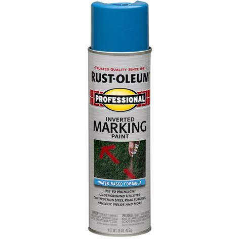 spray paint on water shop rust oleum professional 6 pack caution blue water