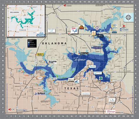 texoma texas map area map lake texoma associationlake texoma association