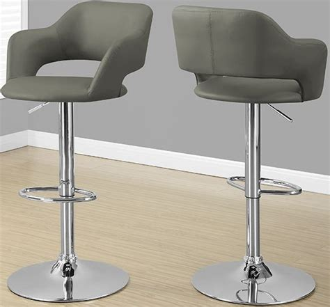 light grey bar stools with arms monarch specialties i 2364 light grey hydraulic lift