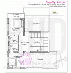 floor plan with roof plan floor plan and elevation of flat roof villa kerala home