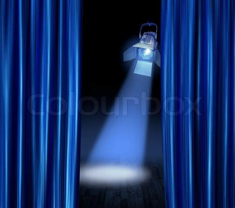 blue satin curtains blue satin curtains reveal stage spotlight l beam
