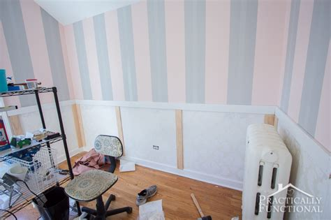 how to finish wainscoting corners diy wainscoting with textured wallpaper