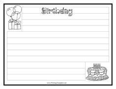 birthday writing paper 1000 images about writing templates for students on