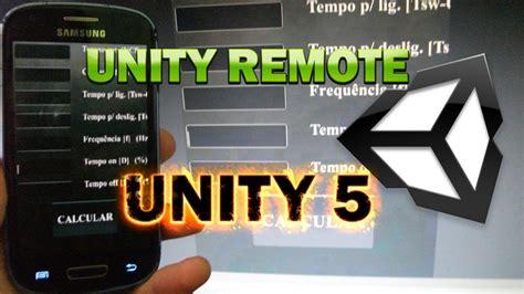 tutorial unity remote unity remote na unity 5 youtube