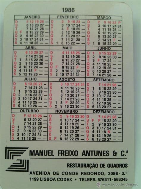 Calendario De 1986 Calendario Julio Iglesias 1986 Portugu 233 S Comprar