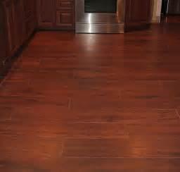 Image of wood look porcelain tile flooring