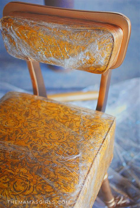 Plastic Furniture Wrap by How To Mask Furniture When Spray Painting With Plastic