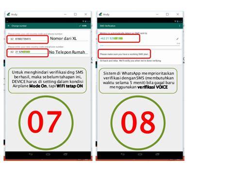 tutorial singkat membuat akun wa dng nomor telepon rumah atau kantor