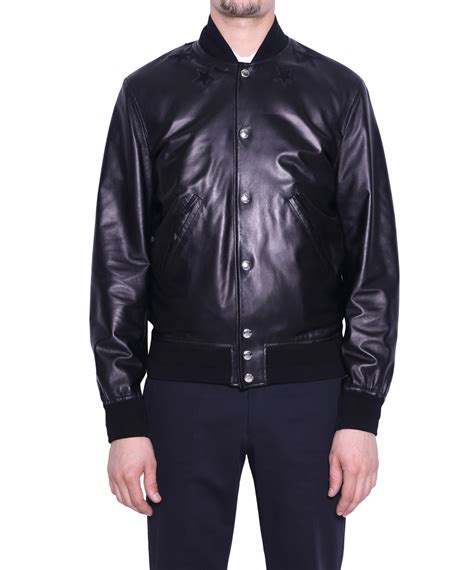 givenchy leather jacket givenchy leather bomber jacket with in black for lyst