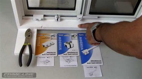 how to easy to install sliding window door security