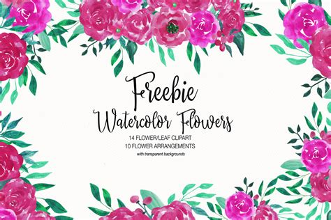 clipart collection free free watercolor flower clipart collection creativetacos