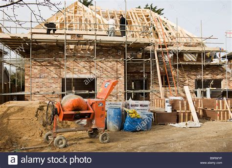 house building websites building site of a new house in the process of having the