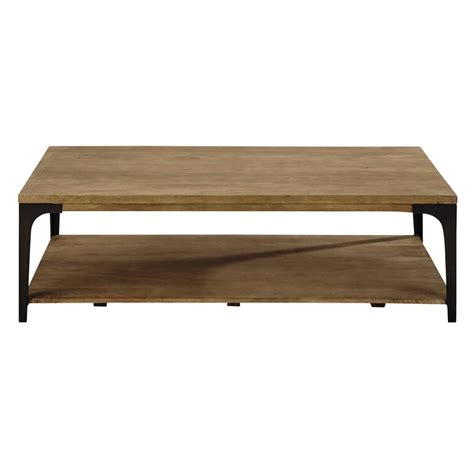 Solid Coffee Table Solid Mango Wood And Metal Coffee Table W 130cm Metropolis Maisons Du Monde