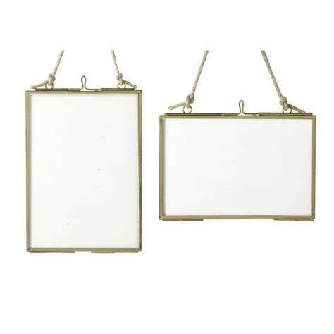 frame hanging brass glass hanging frame by all things brighton beautiful notonthehighstreet com