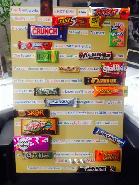 farewell themes names retirement candy poem retirement party pinterest