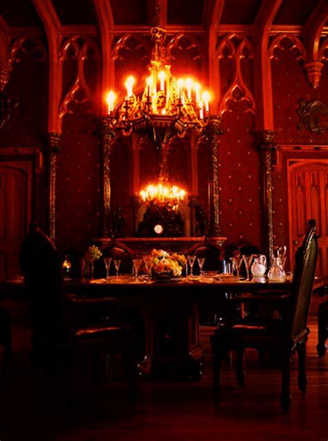 gothic victorian interior design  decor  dining