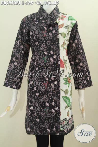 Baju Wanita Karir Berjilbab busana dress batik warna gelap terang motif bagus kwalitas istimewa baju batik kombinasi tulis