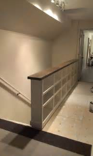 Wall Banister Rail by Turn A Stair Railing Into A Half Wall Studio Design