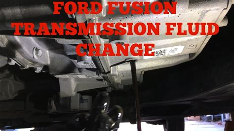 how to fix cars 2011 ford fusion transmission control ford fusion escape 6f35 transmission fluid change youtube