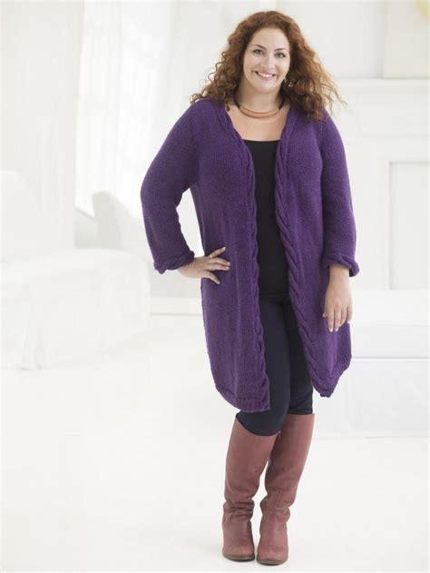 pattern knitting cardigan knit cabled cardigan pattern favecrafts com