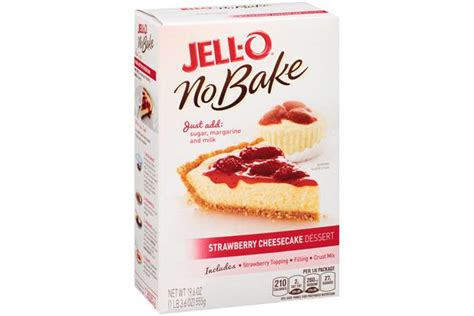 Jello No Bake Oreo Dessert 12 6 Oz jell o no bake strawberry cheesecake dessert mix kraft