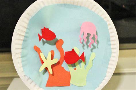 How To Make A Paper Aquarium - aquarium paper plate crafts sea creatures crafts