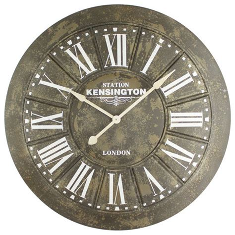 traditional wall clock big iron wall clock with screen printing traditional