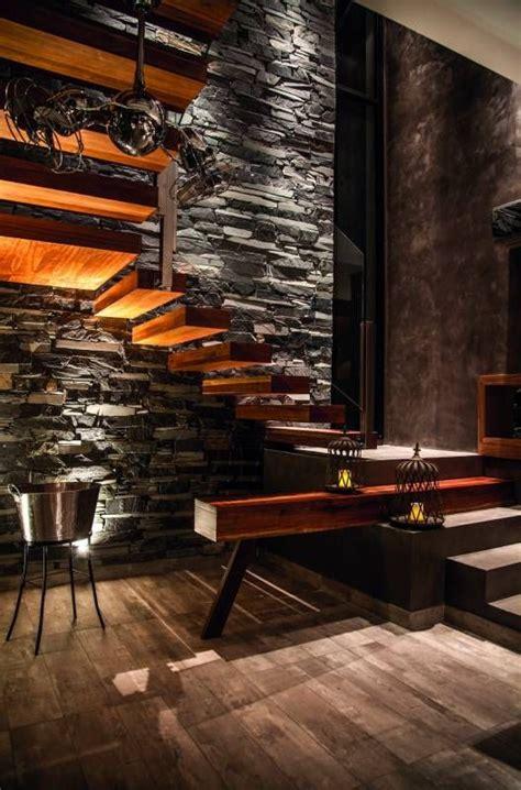 interiores de piedra 32 mejores im 225 genes sobre muros en chimeneas