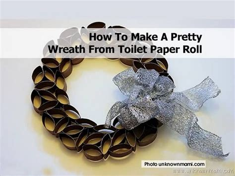 How To Make A Paper Wreath - how to make a pretty wreath from toilet paper roll