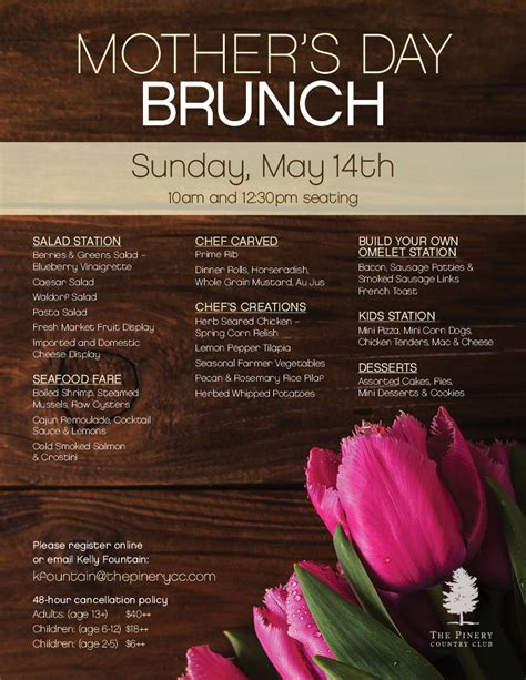 mother s day 2017 mother s day brunch 2017 the pinery country club 2017