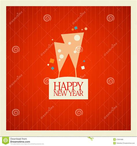 Design Free New Year Card | new year card design royalty free stock photos image