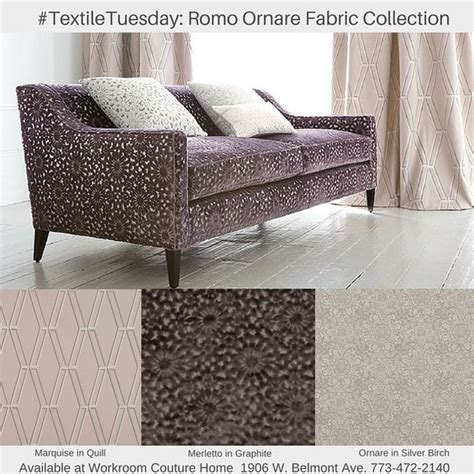 upholstery workroom romo ornare fabric collection available at workroom