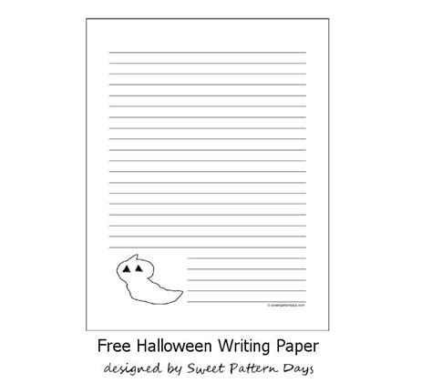 ghost writing paper ghost lined writing paper printables