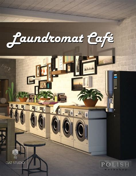 layout of a laundry business laundromat cafe 3d models and 3d software by daz 3d