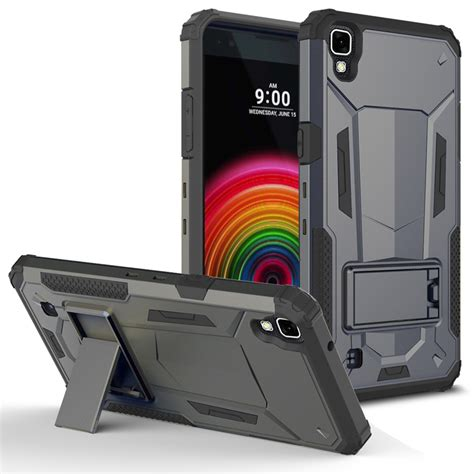 Lg X Screen K500 Future Hybrid Armor Stand With Belt Clip Holster For Lg X Power K6p Zizo Hybrid Future Armor